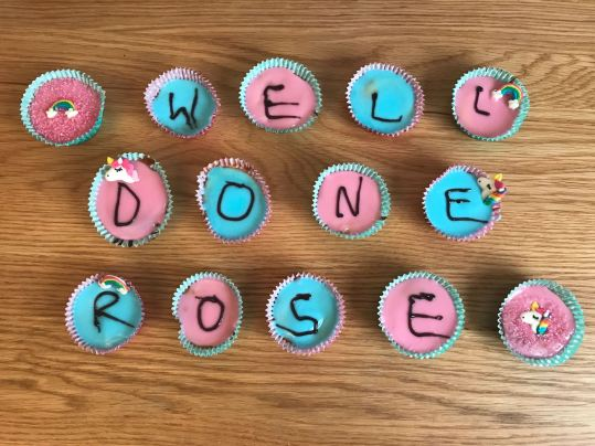 Rose's last exam day cakes!